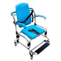Wheel chair with toilet